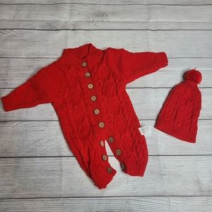 Baby Winter Outfit Knitted Sweater Romper